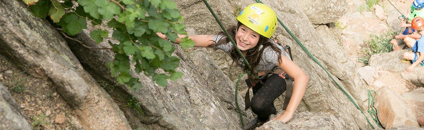 Rock climbing summer camp
