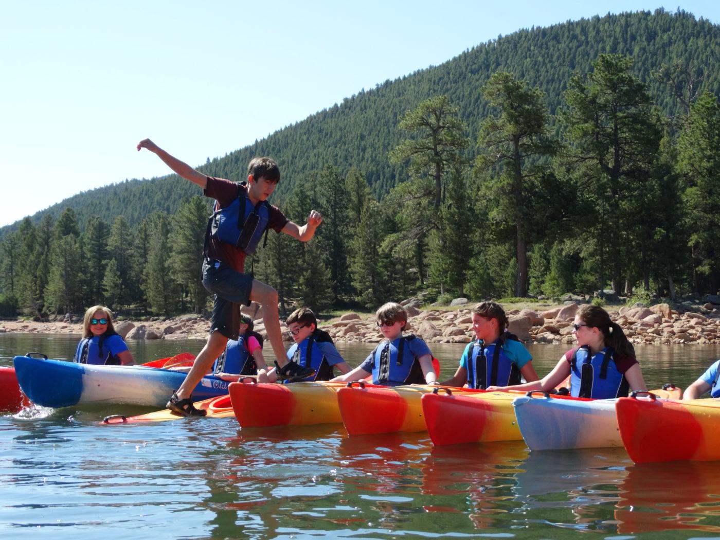 Overnight camp canoeing